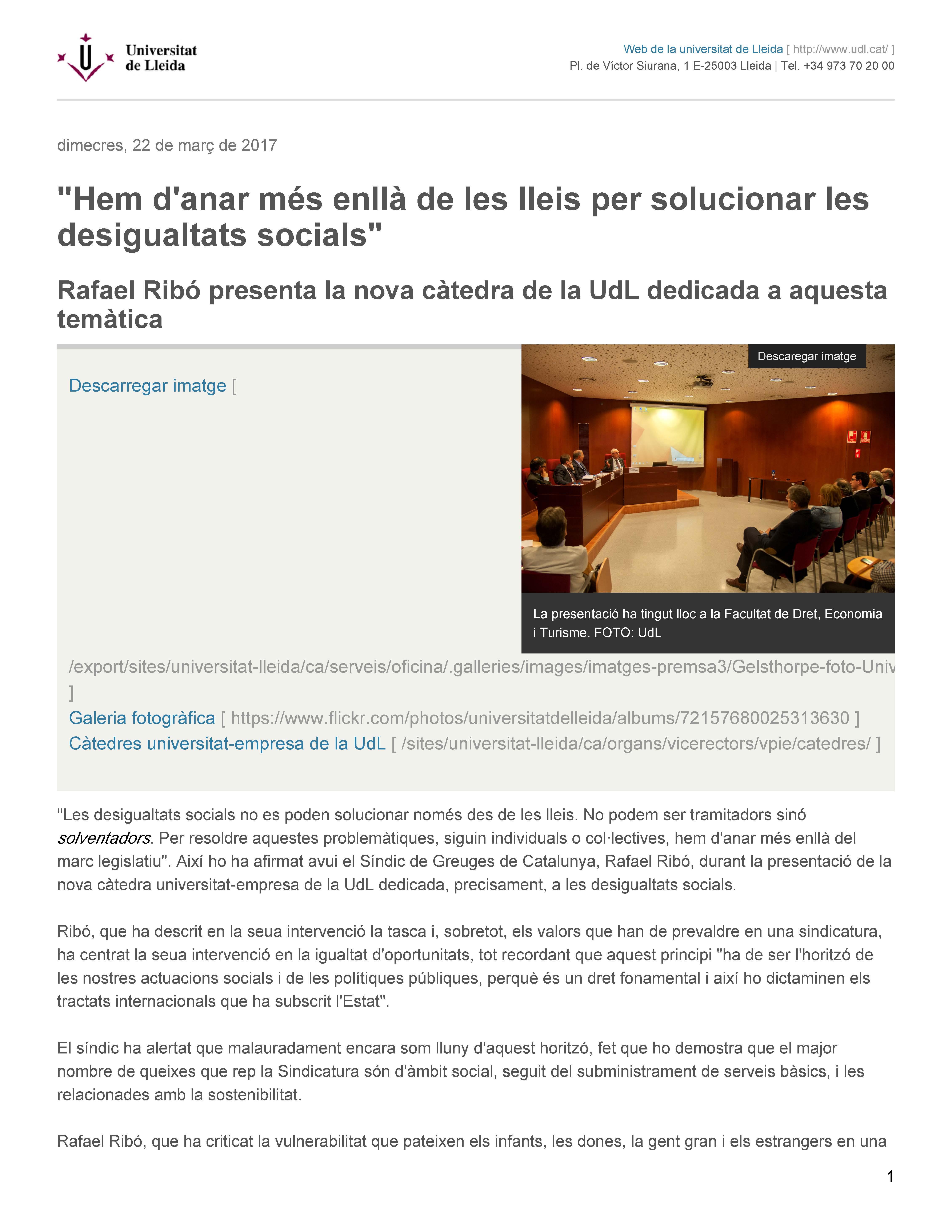 La Vanguardia 05/02/17